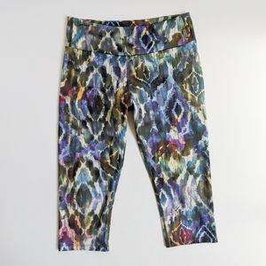KOS USA Capri Watercolor Yoga Legging Size Large